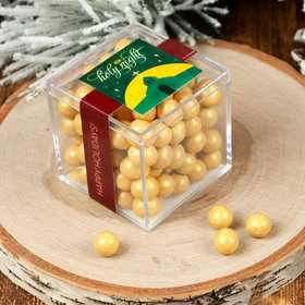 Personalized Christmas Holy Celebration JUST CANDY® favor cube with Sixlets Chocolate