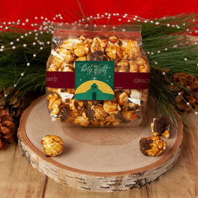 Personalized Christmas Holy Celebration Chocolate Caramel Sea Salt Gourmet Popcorn 3.5 oz Bags