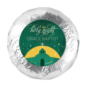 """Personalized Christmas Holy Celebration 1.25"""" Stickers (48 Stickers)"""