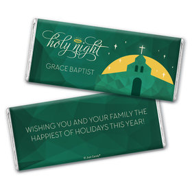 Personalized Christmas Holy Celebration Chocolate Bar Wrappers Only