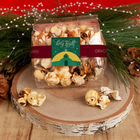 Personalized Christmas Holy Celebration Trendy Trash Gourmet Popcorn 3.5 oz Bags