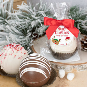 Personalized Christmas Hot Cocoa Bomb - Winter Buddies