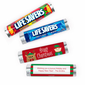 Personalized Christmas Winter Buddies Lifesavers Rolls (20 Rolls)