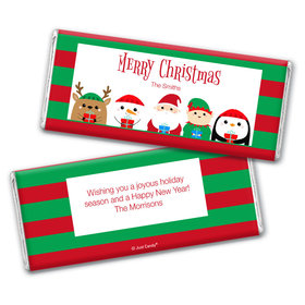 Personalized Christmas Winter Buddies Chocolate Bar Wrappers Only