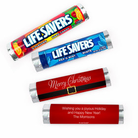 Personalized Christmas St. Nick Lifesavers Rolls (20 Rolls)