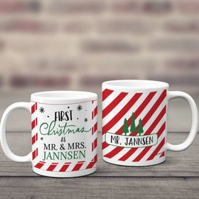 Personalized First Xmas as Mr & Mrs 11oz Mug Empty