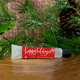 Personalized Hand Sanitizer Tube Christmas 0.5 fl. oz. - Happy Holidays