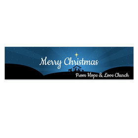 Personalized O Holy Night Christmas 5 Ft. Banner