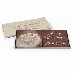 Deluxe Personalized Christmas Away in a Manger Chocolate Bar in Gift Box
