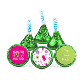Personalized Christmas Festive Hershey's Kisses (50 pack)