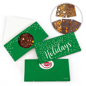 Personalized Simple Holidays Add Your Logo Christmas Gourmet Infused Belgian Chocolate Bars (3.5oz)