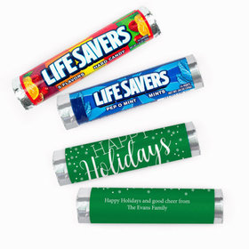 Personalized Simply Holidays Lifesavers Rolls (20 Rolls)