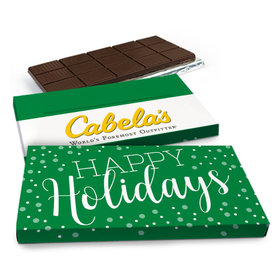 Deluxe Personalized Simply Holidays Christmas Chocolate Bar in Gift Box (3oz Bar)
