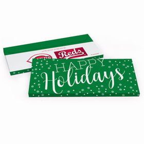 Deluxe Personalized Simply Holidays Christmas Chocolate Bar in Gift Box