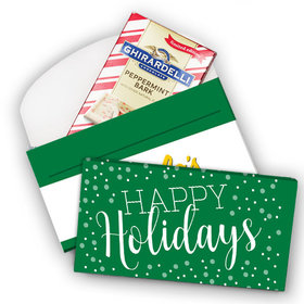 Deluxe Personalized Simply Holidays Add Your Logo Christmas Ghirardelli Chocolate Bar in Gift Box