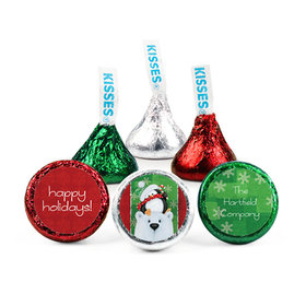 Personalized Christmas Polar Party Hershey's Kisses (50 pack)