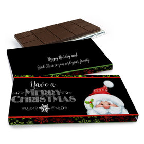 Deluxe Personalized Chalkboard Santa Christmas Chocolate Bar in Gift Box (3oz Bar)