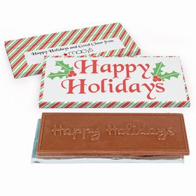 Deluxe Personalized Stripes Christmas Chocolate Bar in Gift Box