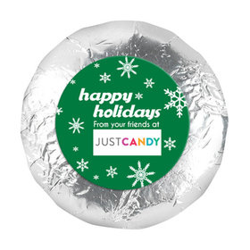 """Personalized 1.25"""" Stickers - Christmas Snowflake Flurry (48 Stickers)"""