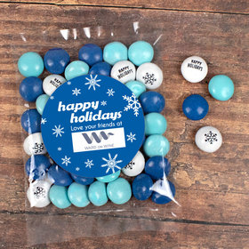 Personalized Christmas Candy Bag with JC Chocolate Minis - Snowflake Flurry Add Your Logo