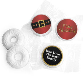 Personalized Life Savers Mints - Christmas Santa Buckle