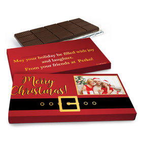 Deluxe Personalized Add Your Photo Christmas Chocolate Bar in Metallic Gift Box (3oz Bar)