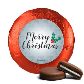 Personalized Chocolate Covered Oreos - Christmas Holly Merry Christmas