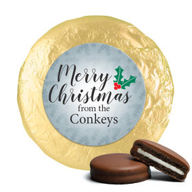 Personalized Chocolate Covered Oreos - Personalized Holly Merry Christmas