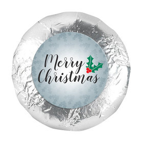 """Personalized 1.25"""" Stickers - Christmas Holly Merry Christmas (48 Stickers)"""