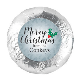 "Personalized 1.25"" Stickers - Personalized Holly Merry Christmas (48 Stickers)"