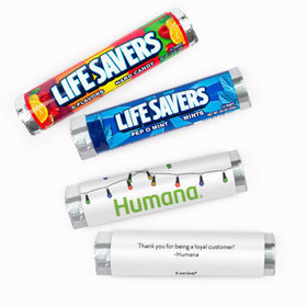 Personalized Christmas Lights Add Your Logo Lifesavers Rolls (20 Rolls)