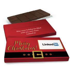 Deluxe Personalized Add Your Logo Christmas Chocolate Bar in Metallic Gift Box(3oz Bar)