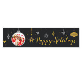 Personalized Once Upon a Holiday Christmas 5 Ft. Banner