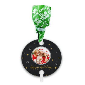 Personalized Once Upon a Holiday Christmas Dum Dums with Gift Tag (75 pops)