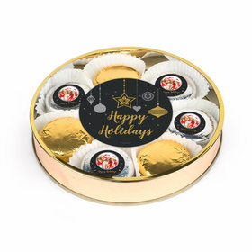 Personalized Once Upon a Holiday Large Plastic Tin with Belgian Chocolate Covered Oreo Cookies