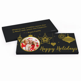 Deluxe Personalized Once Upon a Holiday Christmas Chocolate Bar in Metallic Gift Box