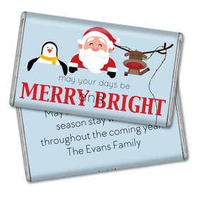 Personalized Merry Bright & Cute Christmas Giant 1lb Hershey's Chocolate Bar