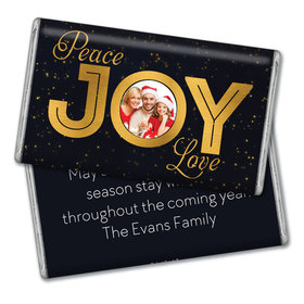 Personalized Peace Joy & Love Christmas Giant 1lb Hershey's Chocolate Bar