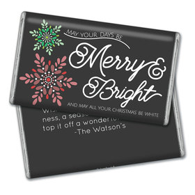 Personalized Merry & Bright Christmas Giant 1lb Hershey's Chocolate Bar