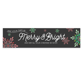 Personalized Merry & Bright Christmas 5 Ft. Banner