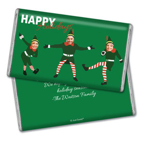 Personalized Dancing Elves Christmas Giant 1lb Hershey's Chocolate Bar