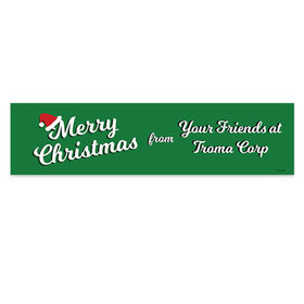 Personalized Retro Christmas 5 Ft. Banner