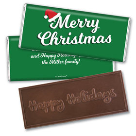 Personalized Embossed Chocolate Bar - Christmas Retro