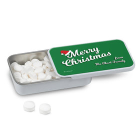 Personalized Christmas Retro Mint Tin (12 Pack)