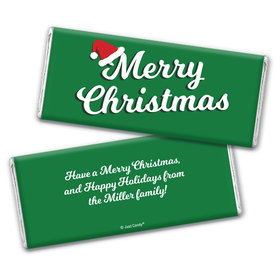 Personalized Chocolate Bar Wrappers Only - Christmas Retro