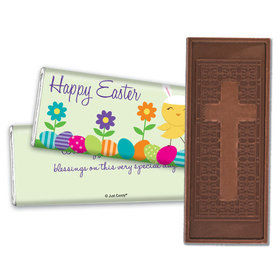 Personalized Easter Cute as a Bunny Embossed Chocolate Bar & Wrapper