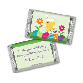 Cute As a Bunny Personalized Miniature Wrappers