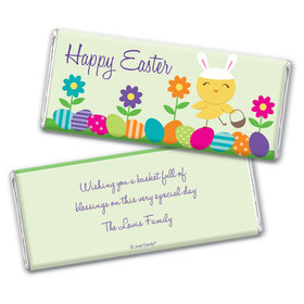 Cute as a Bunny Personalized Candy Bar - Wrapper Only