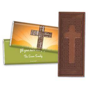 Personalized He's Risen Embossed Chocolate Bar