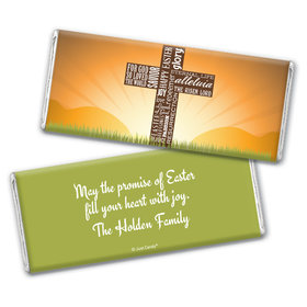 He's Risen Personalized Candy Bar - Wrapper Only